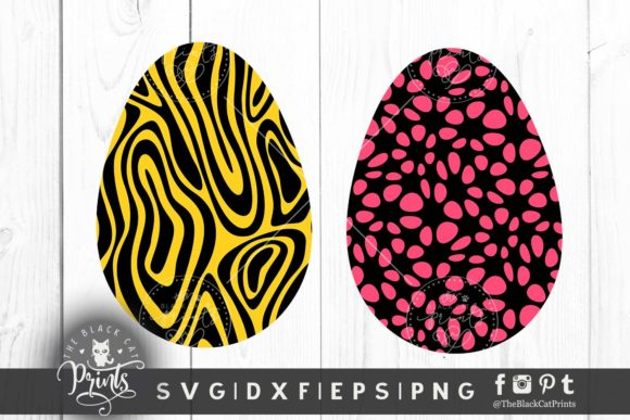 Download Free Easter Eggs Clipart Graphic By Theblackcatprints Creative Fabrica for Cricut Explore, Silhouette and other cutting machines.