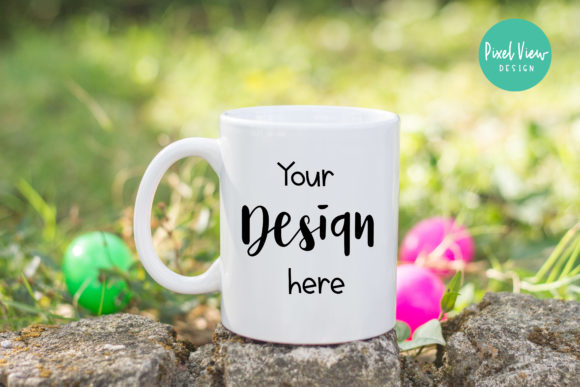 Print on Demand: Easter Mockup - White Mug Graphic Product Mockups By Pixel View Design