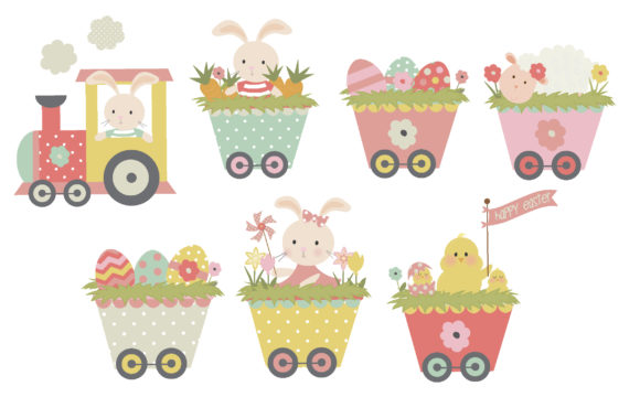 Download Free Easter Train Graphic By Poppymoondesign Creative Fabrica for Cricut Explore, Silhouette and other cutting machines.