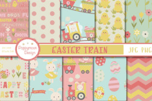 Print on Demand: Easter Train Papers Graphic Patterns By poppymoondesign