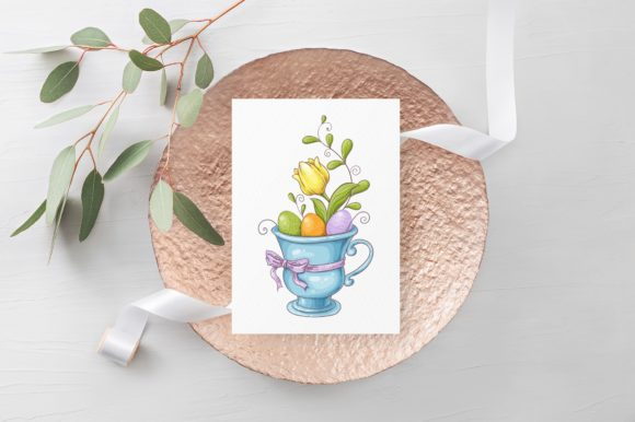 Print on Demand: Lovely Easter Vector Clip Art Graphic Illustrations By nicjulia - Image 8