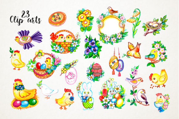 Print on Demand: Easter Watercolor Set Graphic Illustrations By Red Ink - Image 3