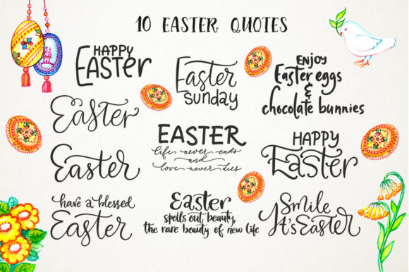 Easter Watercolor Set Graphic Design