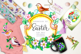 Print on Demand: Easter Watercolor Set Graphic Illustrations By Red Ink