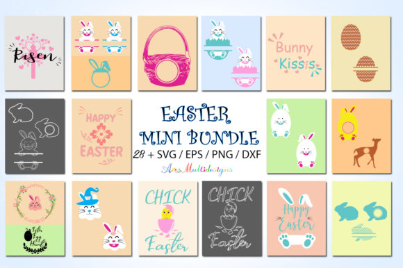 Print on Demand: Easter Bundle Graphic Crafts By Arcs Multidesigns