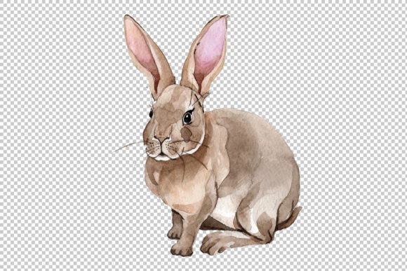 Print on Demand: Easter Bunny Watercolor Png Graphic Illustrations By MyStocks - Image 3