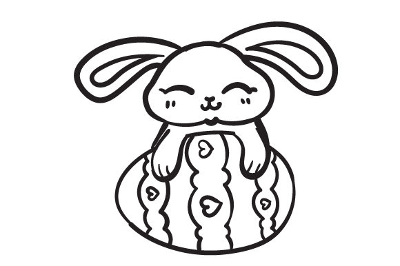 Download Free Easter Bunny Svg Cut File By Creative Fabrica Crafts Creative for Cricut Explore, Silhouette and other cutting machines.