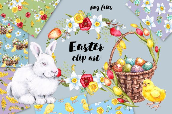 Print on Demand: Easter Design Bundle Grafik Illustrationen von nicjulia