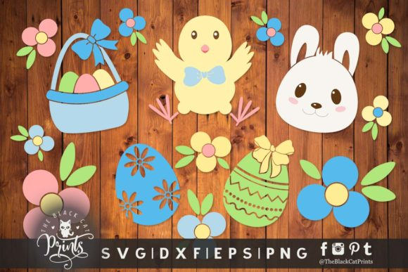 Easter Clipart Graphic Crafts By TheBlackCatPrints - Image 3