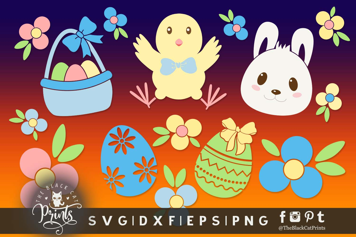 Download Free Easter Clipart Graphic By Theblackcatprints Creative Fabrica SVG Cut Files