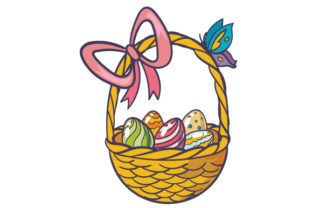 Easter Egg Basket Craft Design By Creative Fabrica Crafts