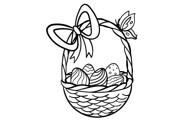 Easter Egg Basket Easter Craft Cut File By Creative Fabrica Crafts - Image 2