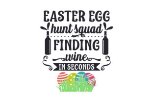 Easter Egg Hunt Squad, Finding Wine in Seconds Craft Design By Creative Fabrica Crafts