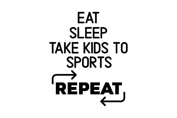 Download Free Eat Sleep Take Kids To Sports Repeat Archivos De Corte Svg for Cricut Explore, Silhouette and other cutting machines.