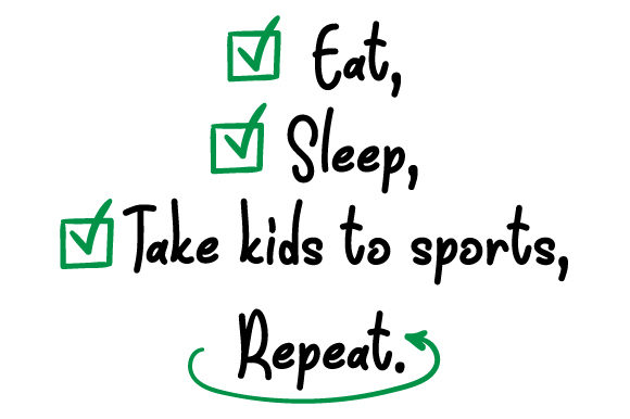 Eat, Sleep, Take Kids to Sports, Repeat Kids Craft Cut File By Creative Fabrica Crafts