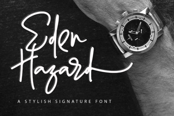Print on Demand: Eden Hazard Script & Handwritten Font By aldedesign
