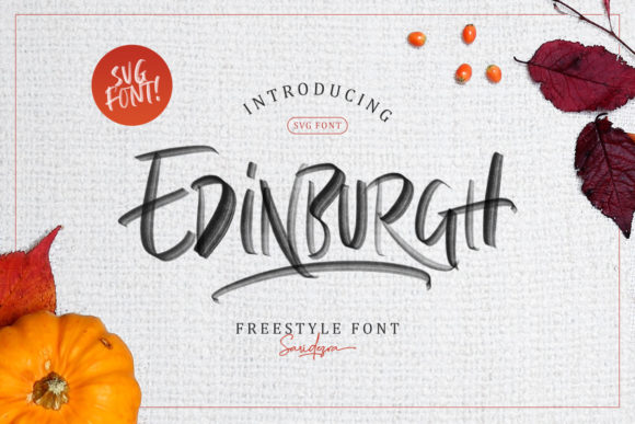 Print on Demand: Edinburgh Color Fonts Font By saridezra