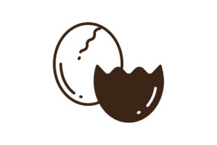 Download Free Eggs Icon Graphic By Matfine Creative Fabrica for Cricut Explore, Silhouette and other cutting machines.