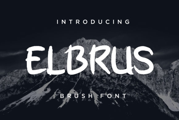 Print on Demand: Elbrus Display Font By Sant