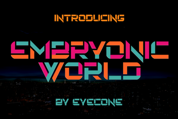 Print on Demand: Embryonic World Display Font By EyeCone