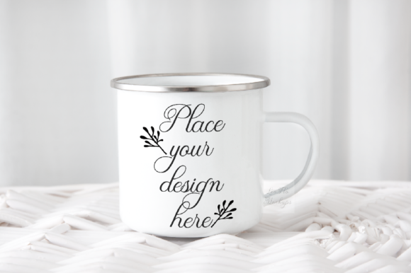 Print on Demand: Enamel Camp Mug Mockup Graphic Product Mockups By Leo Flo Mockups