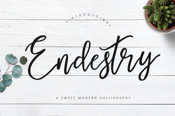 Print on Demand: Endestry Script & Handwritten Font By CreatypeStudio
