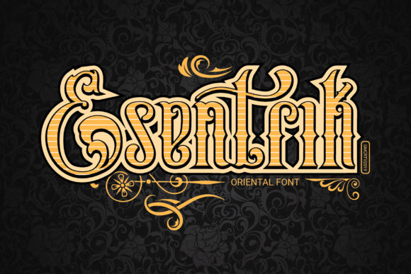 Print on Demand: Esentrik Display Font By gumacreative