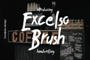 Excelco Brush Font By Hdjs.design