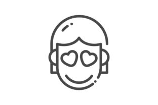 Download Free Face Icon Graphic By Rudezstudio Creative Fabrica for Cricut Explore, Silhouette and other cutting machines.