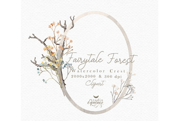 Fairy Tale Forest Graphic Illustrations By studioequinox