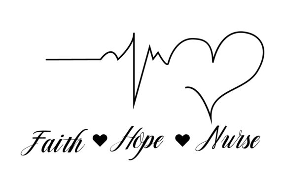 Download Free Faith Hope Nurse Graphic By Goran Stojanovic Creative Fabrica for Cricut Explore, Silhouette and other cutting machines.
