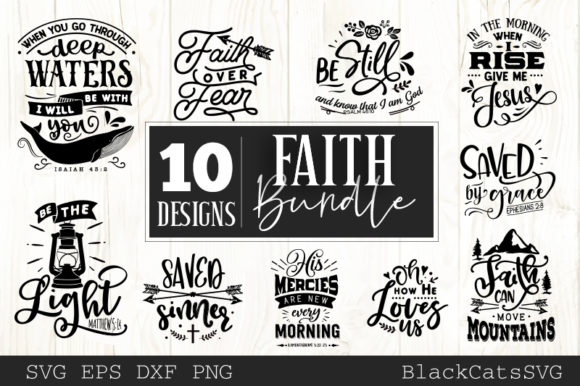 Faith SVG Bundle Graphic Crafts By BlackCatsMedia