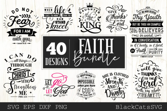 Faith Bundle Graphic Crafts By BlackCatsMedia - Image 2