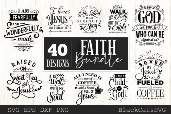 Faith Bundle Graphic Crafts By BlackCatsMedia - Image 4