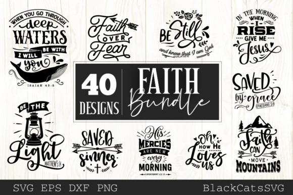 Faith Bundle Graphic Crafts By BlackCatsMedia - Image 5