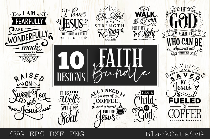 Download Free Faith Bundle Graphic By Blackcatsmedia Creative Fabrica for Cricut Explore, Silhouette and other cutting machines.