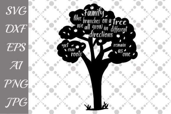 Download Free Family Tree Silhouette Svg Graphic By Prettydesignstudio Creative Fabrica for Cricut Explore, Silhouette and other cutting machines.