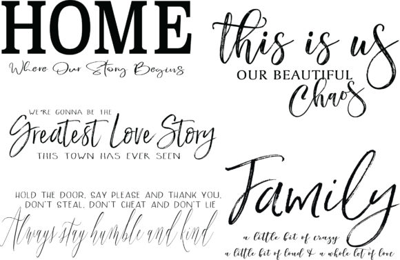 Farmhouse Sign Bundle Gráfico Ilustraciones Por Valerie Greer