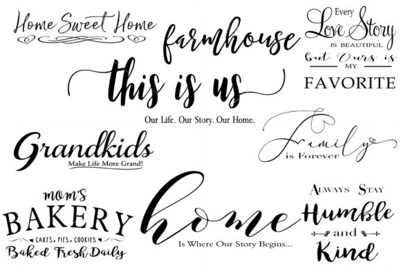 Farmhouse Sign Bundle Graphic Illustrations By Valerie Greer