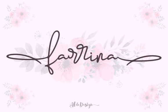 Print on Demand: Farrina Script & Handwritten Font By aldedesign