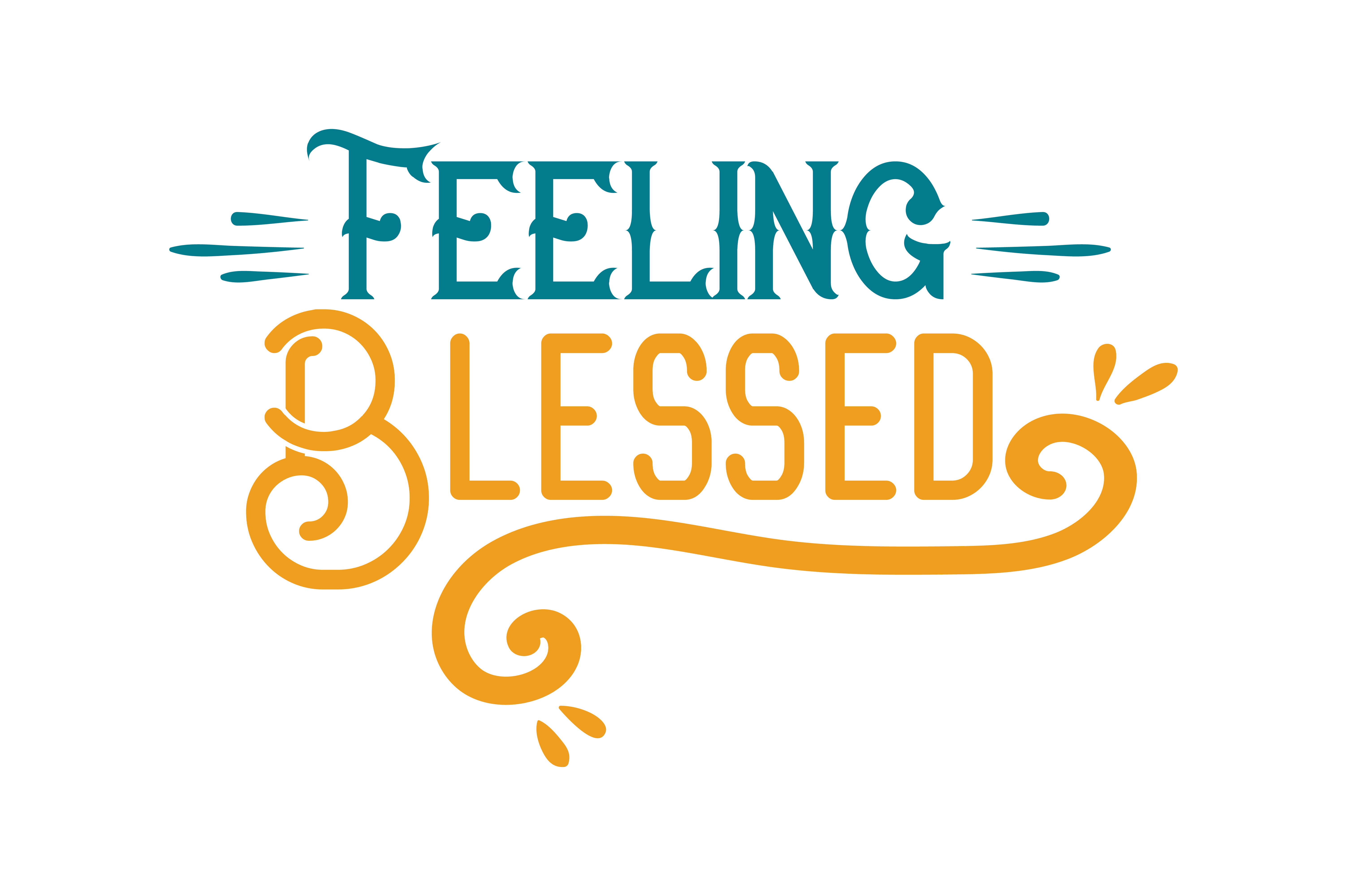 Download Free Feeling Blessed Quote Svg Cut Graphic By Thelucky Creative for Cricut Explore, Silhouette and other cutting machines.
