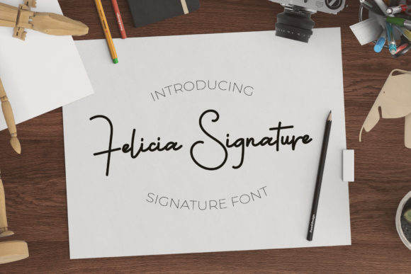 Download Free Felicia Signature Font By Vz Type Creative Fabrica for Cricut Explore, Silhouette and other cutting machines.