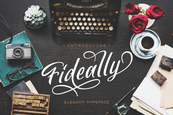 Fideally Font By Lutfi - 7NTypes Image 1