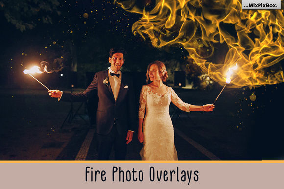 Print on Demand: Fire Photo Overlays Graphic Layer Styles By MixPixBox
