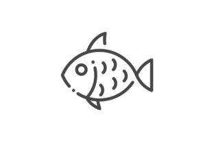Download Free Fish Icon Graphic By Rudezstudio Creative Fabrica for Cricut Explore, Silhouette and other cutting machines.