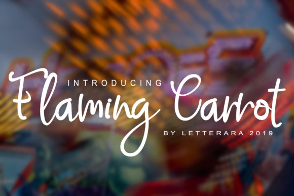 Print on Demand: Flaming Carrot Script & Handwritten Font By thomasaradea