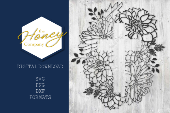Floral Cross SVG Graphic Crafts By The Honey Company
