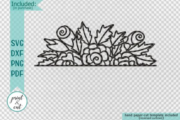 Floral Border Svg Graphic By Cornelia Image 2