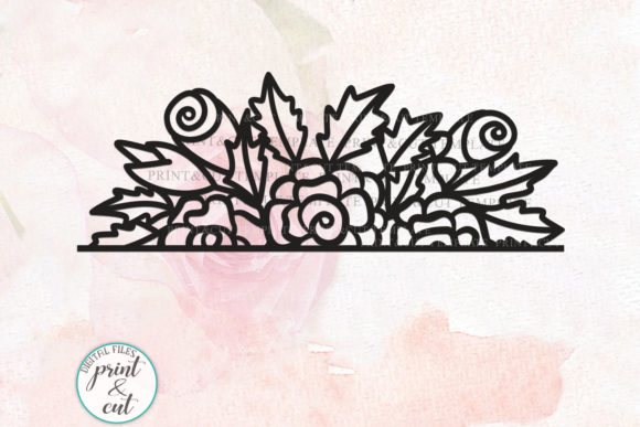 Download Free Floral Border Graphic By Cornelia Creative Fabrica for Cricut Explore, Silhouette and other cutting machines.