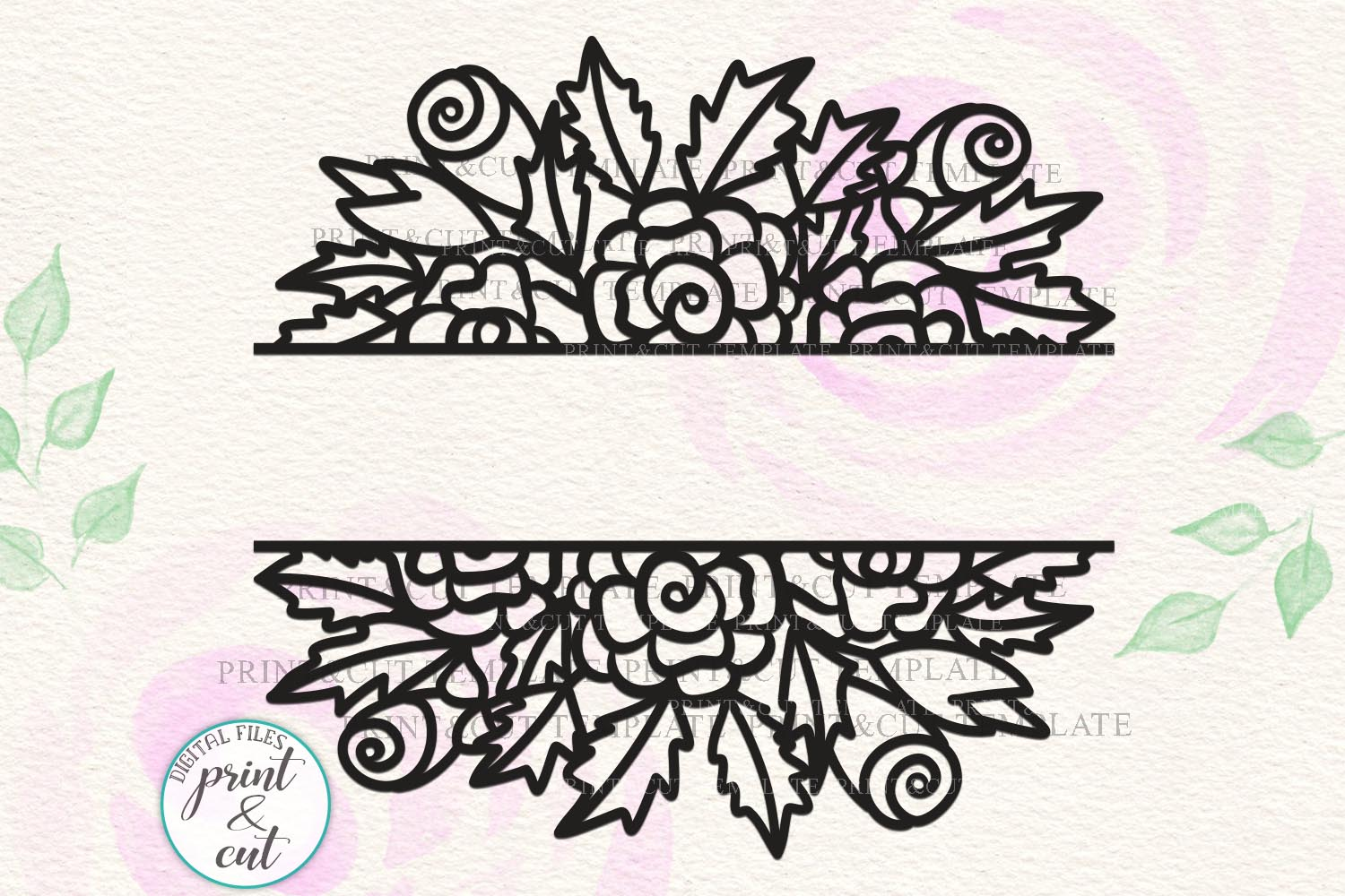 Download Free Floral Wedding Sign Svg Graphic By Cornelia Creative Fabrica for Cricut Explore, Silhouette and other cutting machines.